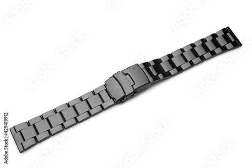 Valokuvatapetti Black metal watch band