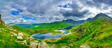 Snowdonia National Park In North Wales Overlooking Llyn Llydaw Lake