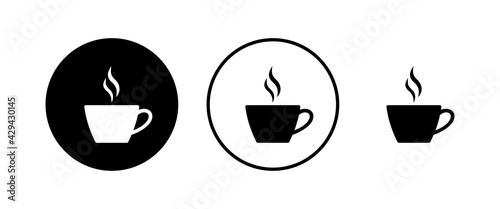 Foto Coffee cup vector icons set