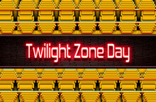 Calendar Of May Month, Twilight Zone Day. Holidays Of May, On Yellow And Green Background