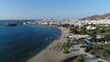 Village de Chora sur l'île de Naxos dans les Cyclades en Grèce vue du ciel