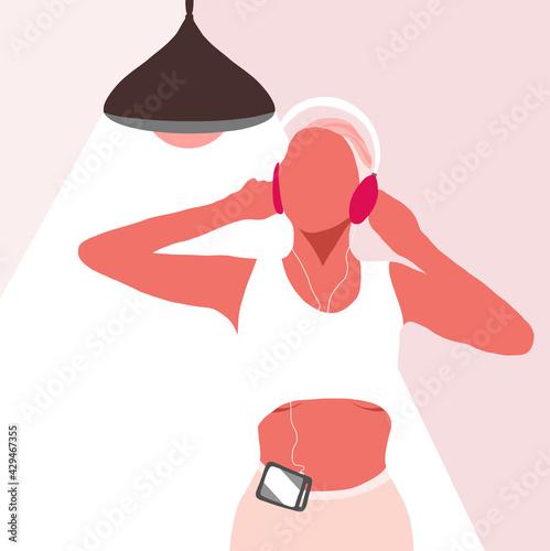 Atletka w słuchawkach