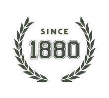 Since 1880 Message Symbol