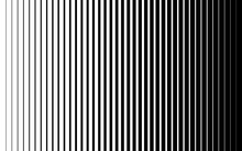 Vertical Speed Line Halftone Pattern Thick To Thin. Vector Illustration