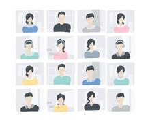 画面上の人々 AI AIイメージ オンラインミーティング People On The Screen