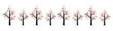 桜の木イメージ 水彩ベクターイラスト