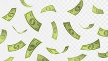 Falling Hundred Dollar Bills, Rain Of Money