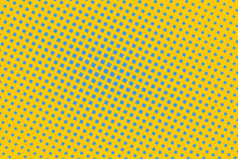Pop Art Creative Concept Colorful Comics Book Magazine Cover. Polka Dots Colorful Background. Cartoon Halftone Retro Pattern. Abstract Template Design For Poster, Card, Sale Banner, Empty Bubble