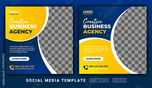 Fotografia Flyer or social media post themed today's menu template