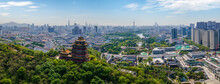 Aerial Photography Of Yuejiang Tower, A Famous Ancient Building In Nanjing