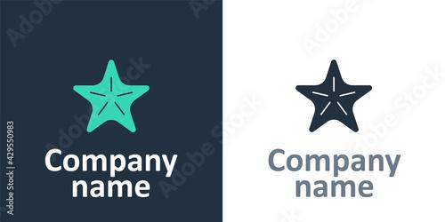 Fotografia Logotype Starfish icon isolated on white background