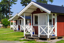 Small Holiday Cottages On A Camping Ground