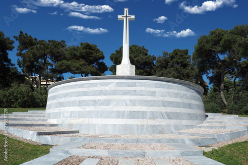 Fotografia, Obraz Μilitary park cemetery in Alimos district in remembrance of British troops that