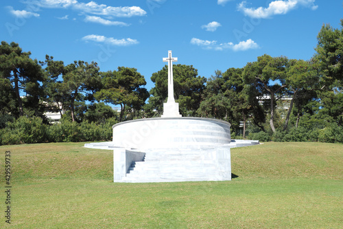 Stampa su Tela Μilitary park cemetery in Alimos district in remembrance of British troops that