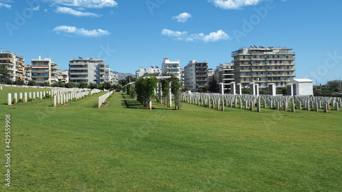 Photo Μilitary park cemetery in Alimos district in remembrance of British troops that