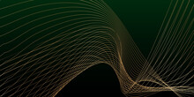 Dark Green Background With Lines