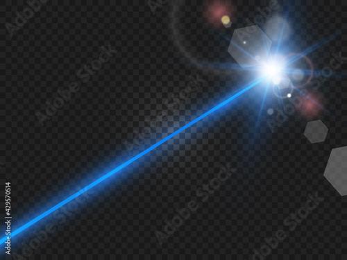 Abstract color laser beam Fototapeta
