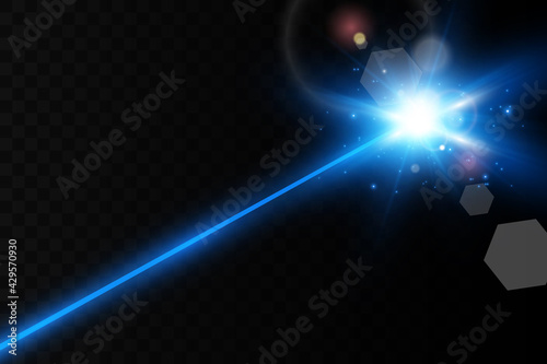 Fotografija Abstract color laser beam