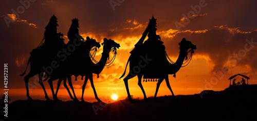 Obraz Trzej królowie - fototapety do salonu