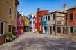 colorful narrow street
