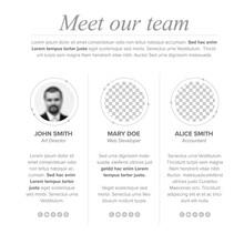 Meet Our Company Team Presentation Template