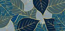 Gold Nature Floral Pattern Background Vector