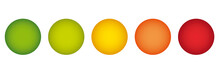 Sample Shape Bubble Chart Infographics In Traffic Light Colors
