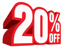 Sale Discount Special Clearance Deal Offer Illustration 20 Percent Off
