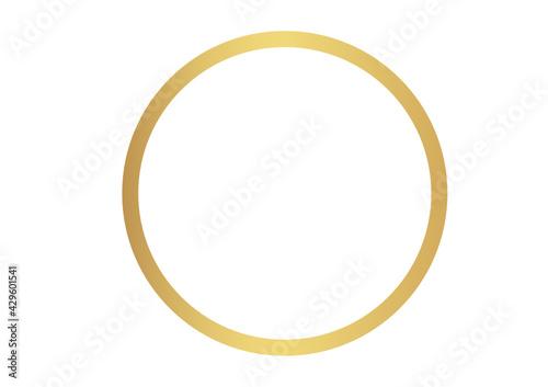 Obraz Złote koło, złoty okrąg, złota ramka, ramka, frames, gold - fototapety do salonu