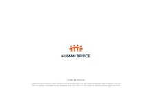 Abstract Human Together With Bridge For Teamwork Education Charity Foundation Logo Design Vector