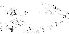 Musical Notes Cartoon Vector Illustration. Melody