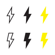 Lightning Icons Vector EPS 10 Illustration.