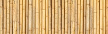 Panorama Of Brown Old Bamboo Fence Texture And Background Seamless