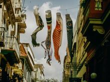 Koinobori Streamers Hanging From Line In Havana Street