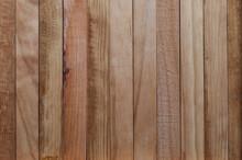 Texture Of Natural Wood Slats (unvarnished). Copper, Reddish, Cherry. Vertical Sense.