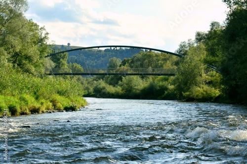 rzeka Poprad, Beskidy, Muszyna, woda,  - fototapety na wymiar