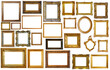 canvas print picture - assortment of golden and silvery art and photo frames isolated on white background