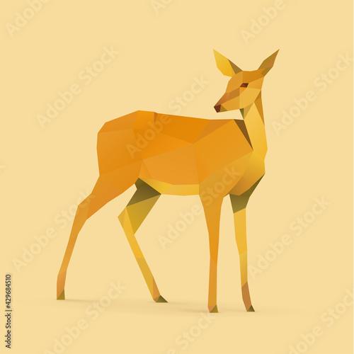 Photo illustration of doe