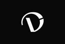DV Letter Logo Design. Creative Modern D V Letters Icon Vector Illustration.