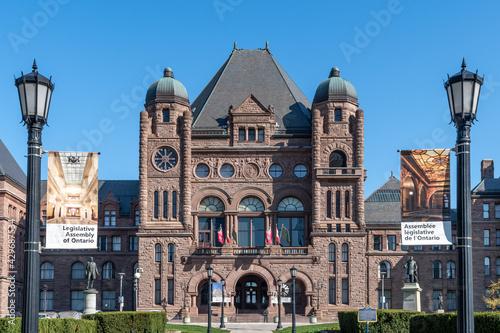 Fototapeta premium Queen's Park Building seat of the Ontario Provincial Government in Toronto, Canada