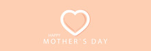 Happy Mother's Day, Inscription On A Pink Background. Greeting Card.