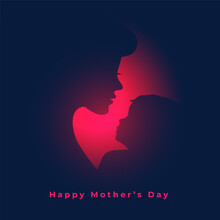 Mom And Baby Love Relation Mothers Day Concept Background