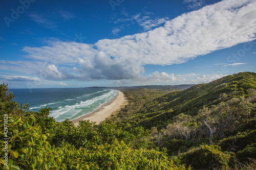 Fototapeta Beautiful shot of Cape Byron State Conservation Area Byron Australia