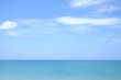 Landscapes View The atmosphere is beautiful Sand and sea and the color of the sky, The beach phuket of Thailand.