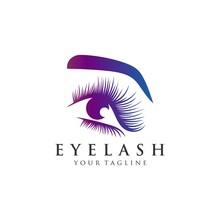 Eyelash Extension Logo Vector Illustration
