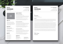 Professional Cv, Resume And Cover Letter, Minimalist Resume Cv Template,