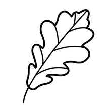 Black And White Tree Leaf. It Is Suitable For The Design Of Websites And History, And Can Also Be A Coloring Book