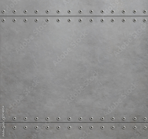 Fototapeta metal industrial background 3d illustration