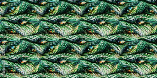 Fotografering Seafoam Bird Paper Fabric. Animal Print