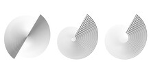 Circular Spiral Sound Wave Rhythm From Lines On White Background.